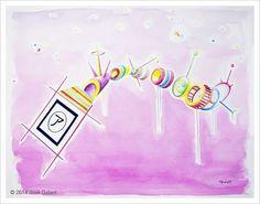 ARTWORK DETAILS   Title: Augmented geometric abstraction A   Watch Vine: Augmented geometric abstraction A   Date:  2014   Medium: Watercolor on paper   Dimensions: 76 x 56 cm   http://jgalant.com/paper