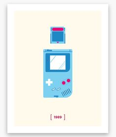 Nintendo Minimalist H Series: Gameboy Poster (11 x 14)