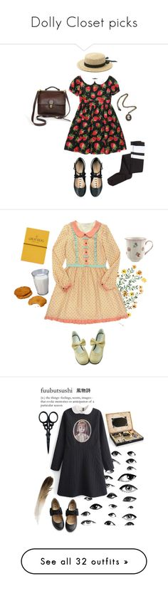 """""""Dolly Closet picks"""" by margegrimm ❤ liked on Polyvore featuring H&M, ASOS, Topshop, girly, lolita, Dolly, Villeroy & Boch, Elgin, The BrowGal and M&S"""