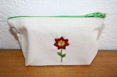 hand embroidered wallet for your soap - or your whatevers! Flour Sacks, Euro, Coin Purse, Soap, Purses, Wallet, Handbags, Bar Soap, Purse