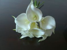 $19.95+free Artifical-FLOWERS-BOUQUETS-Real-Touch-CALLA-LILY-WEDDING-BOUQUET-POSY-9-STEMS