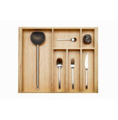 600mm Wide Oak Wood-Line Cutlery Insert | Supplier - LDL Kitchen and Furniture Fittings & Accessories