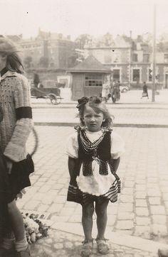 Little girl, Gdansk, Poland, summer 1946