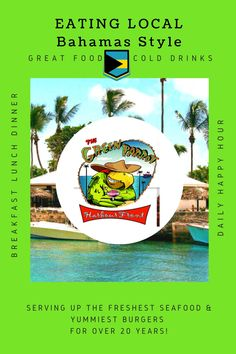 The Green Parrot Bar & Restaurant — Serving up the freshest seafood & yummiest burgers for over 20 years! Caribbean Vacations, Caribbean Sea, Island Food, Island Life, The Green Parrot, Travel Guides, Travel Tips, Bahamas Resorts, Happy Hour Specials