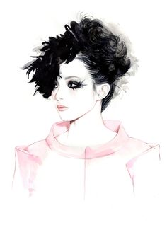 Fashion illustration - pretty fashion drawing // Caroline Andrieu