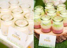 Preciosas gelatinas para una mesa de dulces / Lovely gelatine pots for a sweet table