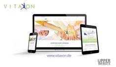 Webdesign für Vitaxon Logo Design & Responsive Webdesign für Vitaxon  Die Firma Vitaxon beauftrage Upper Website mit der Gestaltung der Webpräsenz sowie des neuen Logos.