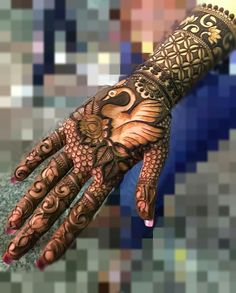 The mehndi ceremony is the most awaited and fun-filled rituals of an Indian wedding, it takes place . Can't get over the beauty of bridal Mehndi Designs for full hands? Latest Bridal Mehndi Designs, Full Hand Mehndi Designs, Mehndi Designs 2018, Henna Art Designs, Modern Mehndi Designs, Mehndi Design Pictures, Mehndi Designs For Beginners, Wedding Mehndi Designs, Mehndi Designs For Girls