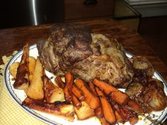 """Sunday Supper-part 2  """"Beef Pot Roast"""" with crispy potatoes"""