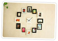 Make an Easy DIY Wall Clock from Photos | Photojojo