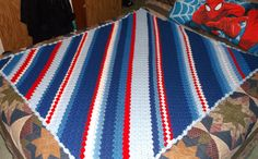 Red White and Blue Corner 2 Corner Crochet Afghan http://www.redheart.com/free-patterns/crochet-corner-corner-throw