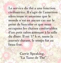 """Citation de """"La Tasse de Thé""""."""