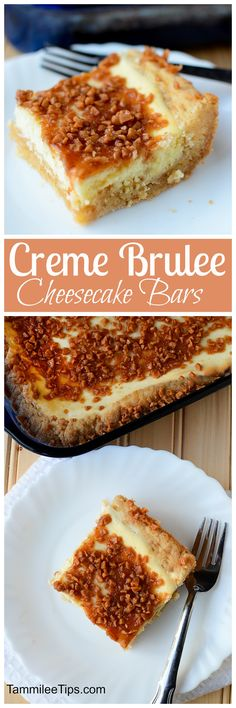 Hello yum! Creme Brulee Cheese Cake Bars that are hard to resist! Crème brulee, meet sugar cookie in this easy dessert bar recipe, both treats come together in each bite. These are soooooo good! via @tammileetips