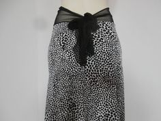 Argentine Tango Skirt  / Jupe Size fits US 4 and by COCOsDANCEWEAR