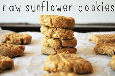 Raw Sunflower Butter Cookies. No bake! Allergy friendly!