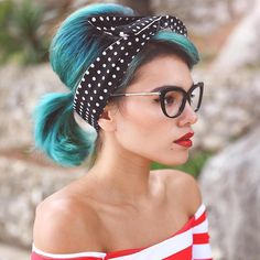 Rockabilly hair. Pinup hair. #hairstyles #beauty #fashion