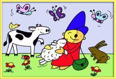 Seizoen lente Pompom I Love School, Spring School, Disney Characters, Fictional Characters, Snoopy, Kids, Young Children, Boys, Children