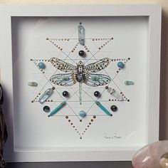 Dragonfly Symbolism, Dragonfly Art, Aqua Aura Quartz, Lotus Art, Deep Relaxation, Creative Visualization, Shadow Box Frames, Crystal Grid, Felt Hearts
