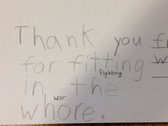 'My best friend is an elementary school teacher. Her students are writing postcards to veterans. This happened' - ha lol