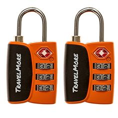 2 Pack Open Alert Indicator TSA Approved 3 Digit Luggage Locks for Travel Suitcase  Baggage *** Want to know more, click on the image.Note:It is affiliate link to Amazon.