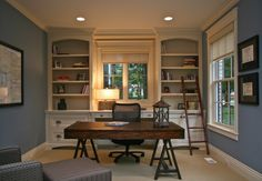 Country Home Office with Bassett mirror ellsworth writing desk, Eurotech seating hawk mesh office chair with arms, Carpet