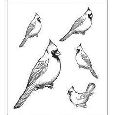 bird stamps rubber | Heartfelt Creations Cardinal Bird Feeder Rubber Stamps