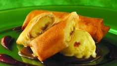 Banana Spring Roll with Chai and Golden Raisin Ice Cream | Food Management - http://food-management.com/bakery-amp-desserts/banana-spring-roll-chai-and-golden-raisin-ice-cream