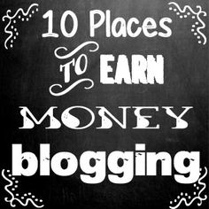 Wow - She is sharing a lot of helpful information that would take me forever to compile elsewhere! So appreciated. - J 10+ Places to Earn Money Blogging