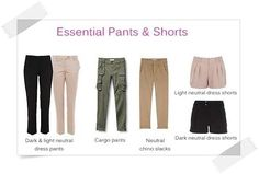 Essential Pants & Shorts - Your Wardrobe Essentials