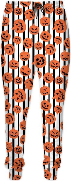 Halloween Jack o Lantern Joggers