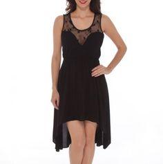 Sweetheart Lace Yoke Dress