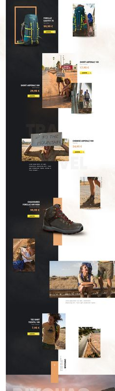 QUECHUA - LOOKBOOK SPRING SUMMER 2016 on Behance