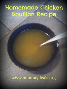 Homemade Chicken Bouillon Recipe. Make this unprocessed bouillon using natural ingredients and then use 1 teaspoon to 1 cup of water to make amazing chicken broth.