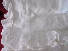 PIU BELLE SHABBY CHIC WHITE MATELASSE Crocheted RUFFLE QUEEN COVERLET NEW   #PIUBELLE