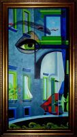 """"""" Surreal """" Acryl 50 x 100 cm"""