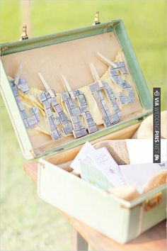 vintage box used for wedding cards | VIA #WEDDINGPINS.NET