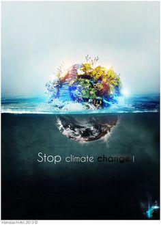 Earth : Stop climate change ! by H-4rt.deviantart.com on @DeviantArt