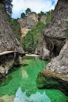 El Parrisal de Beceite Gorge on Rio Matarraña, Spain (by Clasificado). Didn't you say you were going to Spain in the Summer? Places Around The World, Oh The Places You'll Go, Places To Travel, Places To Visit, Around The Worlds, Wonderful Places, Beautiful Places, Magic Places, Spain And Portugal