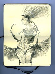 'skine.art - Moleskine Art Artist Journal, Artist Sketchbook, Cool Artwork, Amazing Artwork, Moleskine, Sketchbook Inspiration, Illustrations And Posters, Paper Art, Book Art