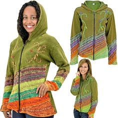 Brilliant hand-embroidered vines and florals infuse our Leaves of Grass Hooded Jacket with unstoppable zest and eye-catching good looks. Handmade by artisans in Nepal, it's a unique work of wearable art.