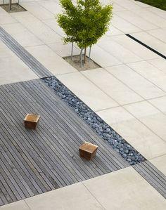 i love the combination fo materials.  andrea cochran landscape architecture   neuva school, hillsborough, california
