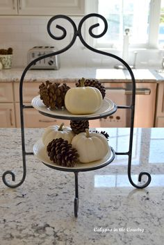 Wrought Iron Tiered Plate Stand