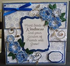 Honeydoo sentiment stamp - tonic sentiment and flourish dies, dreamees background papers and flowers