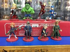 8pcs/set WCF Avenger 2 Age of Ultron PVC Figure Toys Thor H ulk Iron-Man Captain America Black Widow Hawkeye Loki, View captain America, donnatoyfirm Product Details from Guangzhou Donna Fashion Accessory Co., Ltd. on Alibaba.com