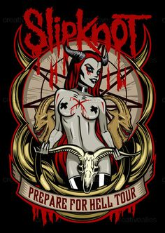 Slipknot Merchandise Graphic by Anna Anomaly on CreativeAllies.com