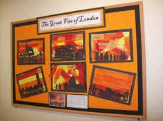 Great Fire of London Classroom Displays - Primary Facts Fire London, Great Fire Of London, The Great Fire, Primary Classroom Displays, Ks1 Classroom, London Kids, London Art, Fire Crafts, People Who Help Us