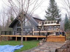 Building Our Cottage Snowroom.I Mean, Sunroom A Frame Cabin, A Frame House, Cabin Homes, Log Homes, Cottage Design, House Design, Plan Chalet, Cabin House Plans, Cottage Exterior