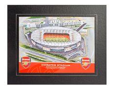 Mounted 8x6 Art Print of Emirates Stadium(Arsenal FC)