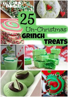 These Grinch-themed holiday treats. – Sarah Lundie These Grinch-themed holiday treats. These Grinch-themed holiday treats. Grinch Party, Grinch Christmas Party, Christmas Snacks, Christmas Cooking, Christmas Goodies, Christmas Candy, Holiday Treats, Christmas Holidays, Christmas Ideas