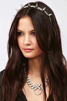 Spikes & Studs Headband  $40.00 There's something cute and statue of liberty-ish about this!